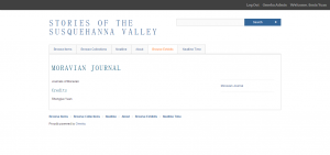 Moravian Journal · Stories of the Susquehanna Valley