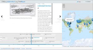1740's timeline in TimeMapper.